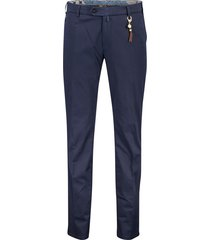 meyer broek flat front donkerblauw bonn