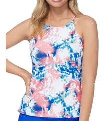 raisins juniors' high-neck tankini top women's swimsuit