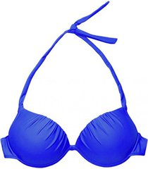 bikini estilo sostén drapeado azul samia