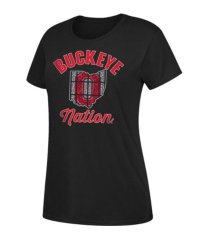 top of the world ohio state buckeyes women's stain glass dual blend t-shirt