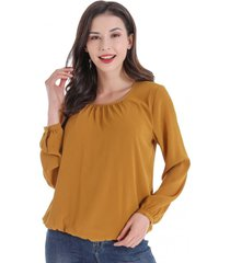 blusa base elasticada amarillo nicopoly
