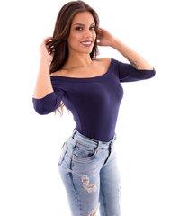 body up side wear básico azul marinho