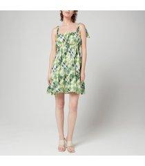 faithfull the brand women's elwood mini dress - billie check print - l