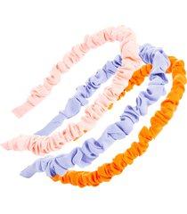 l. erickson set of 3 mini scrunch headbands in bright pastel at nordstrom