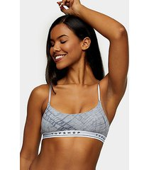 black and white tie dye padded crop bra - monochrome
