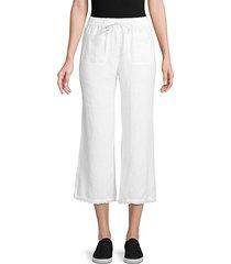 frayed edge linen pants