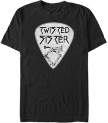 fifth sun twisted sister men's guitar pick logo short sleeve t-shirt