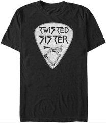 fifth sun twisted sister men's guitar pick logo short sleeve t-shirt
