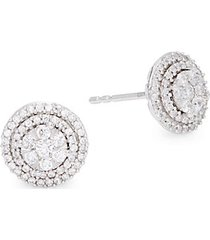 0.52 tcw diamond & 14k white gold circle stud earrings