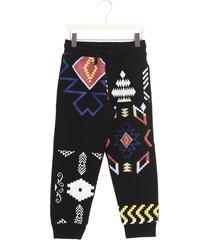 marcelo burlon patchwork folk pants