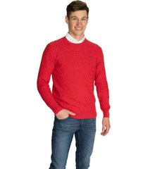 sweater rojo pato pampa punto diamante miles
