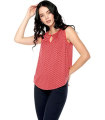 blusa rojo-azul-blanco nautica