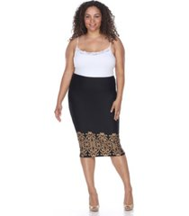 white mark plus eden pencil skirt