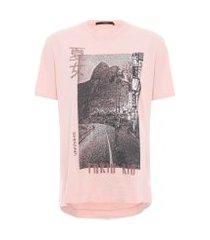 t-shirt feminina skate tokyo begônia - rosa