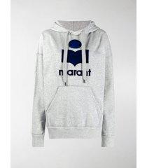 isabel marant étoile oversized logo hoodie