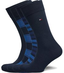 th men sock 4p stripe tin giftbox underwear socks regular socks blå tommy hilfiger