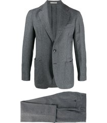 0909 single-breasted formal blazer - grey
