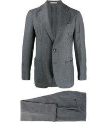 0909 single-breasted formal blazer - grey