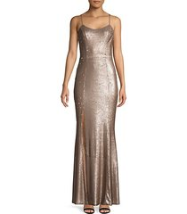ingrid sequin trumpet gown