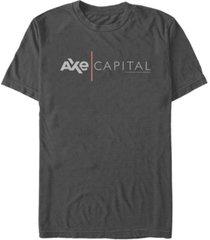 fifth sun billions men's axe cap logo short sleeve t- shirt