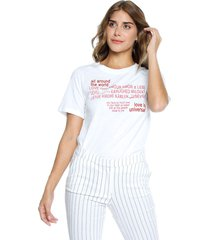 camiseta blanco mng