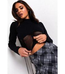 akira like i love you corsetted long sleeve shirt
