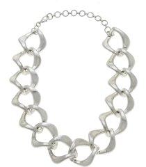 women's canvas jewelry abella statement chain necklace