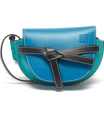 'gate' colourblock knotted belt leather mini bag