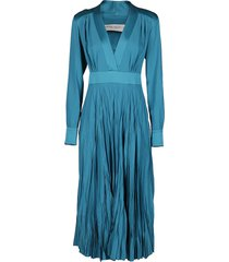 golden goose turquoise blue adriana dress