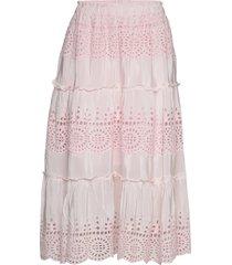 angela skirt knälång kjol rosa by malina