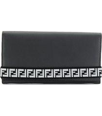 fendi ff tape strap wallet - grey