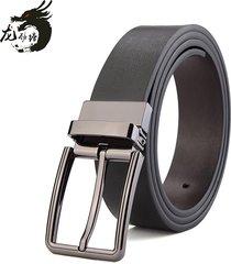 cinturón de hombres, cinturón suave de cuero de-negro