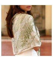 silk batik shawl, 'seventh heaven' (indonesia)