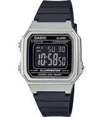 reloj casio w217hm-7bvdf negro resina