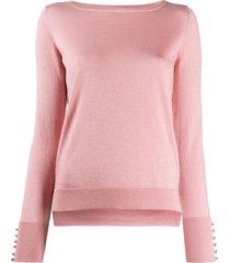 snobby sheep swarovski-embellished pullover - pink