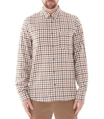 a.p.c. 92 shirt   ecru   h12353-aad