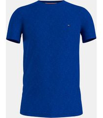 tommy hilfiger men's big and tall organic cotton stretch t-shirt bio blue - 3xlt