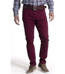jeans bay color algodón burdeo rockford