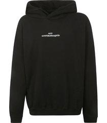 maison margiela oversized logo hoodie