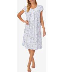 eileen west short sleeve knit cotton waltz nightgown