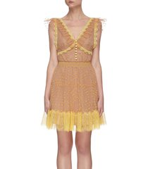 polka dot lace tea dress