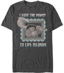 disney men's moana maui power to lift islands, short sleeve t-shirt