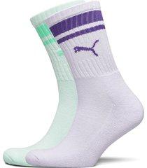 puma crew heritage stripe 2p unisex underwear socks regular socks lila puma