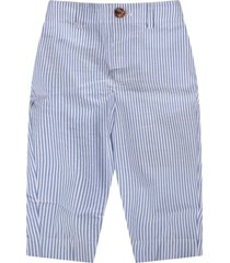 burberry white and light blue babyboy pants