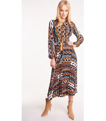 długa sukienka plisowana vega