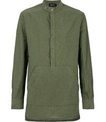 andrea ya'aqov longline pouch pocket shirt - green