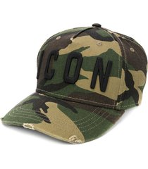 dsquared2 logo camouflage print cap - green