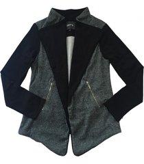 chaqueta cierres negro bunnys