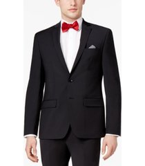 bar iii men's skinny fit stretch wrinkle-resistant black suit jacket, created for macy's