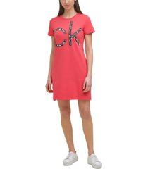calvin klein logo graphic t-shirt dress